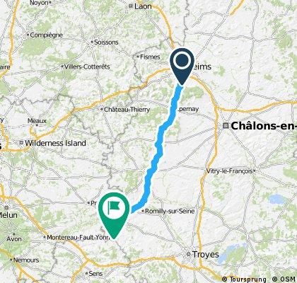 4. Etappe Reims nach Nogents sur Seine ca. 115km 21.06.