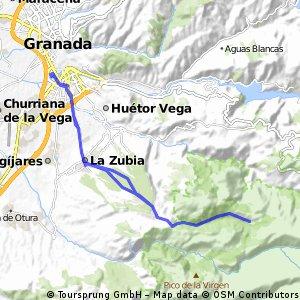 Granada-Cortijuela por vereas Cumbres verdes