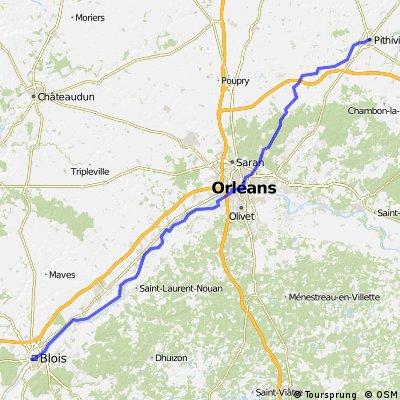 6. Etappe Pithviers nach Blois ca. 111 km 23.06.