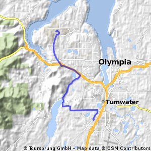 bike tour from Olympia to Tumwater