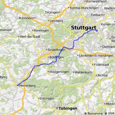 Wangen - Herrenberg Arbeits-Heimweg