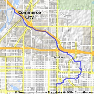 Home to South Platte Interchange