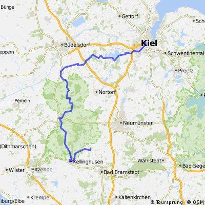 Brokstedt - Kiel 101km