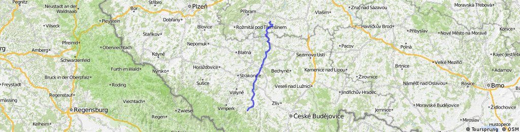 04 Etappe Kamyk nad Viatvou - Pisek 85 Km 830 hm