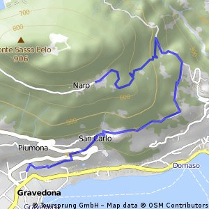 Santa Croce - Gravedona (via Stabino)