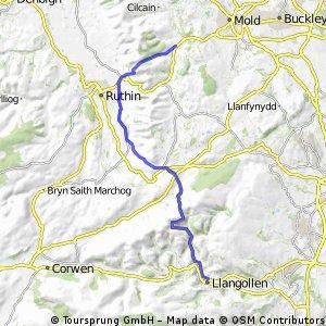 Horseshoe Pass and Bwlch Penbarras