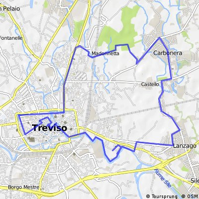 Cycling routes and bike maps in and around Treviso Bikemap Your