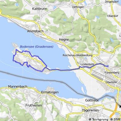 Ausfahrt von Reichenau nach Konstanz