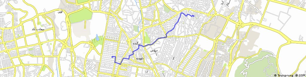 Brief ride through Tehran