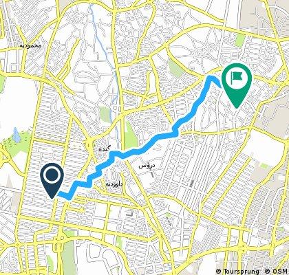 Brief ride through Tehran