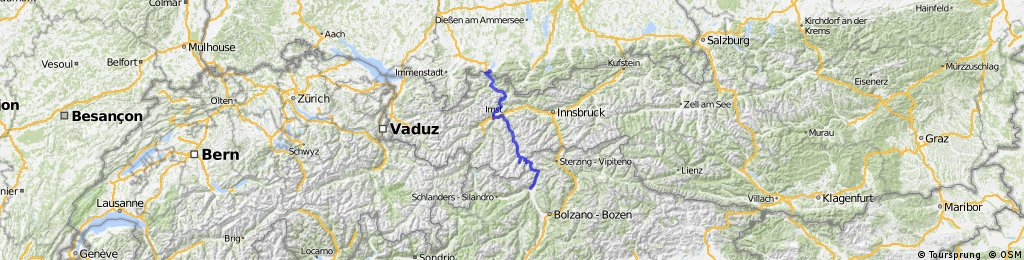 Alpencross Füssen - Meran
