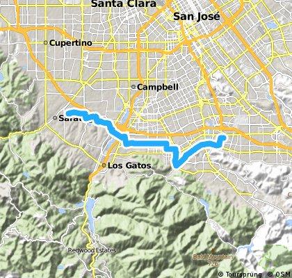 bike tour from San José to Saratoga