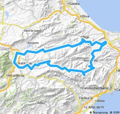 Vall d'Ebo-Col de Rates