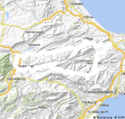 Beniargeig-Vall d'Ebo-Col de Rates-Beniarbeig