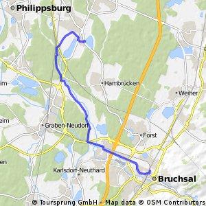Bruchsal-Wiesental 17km