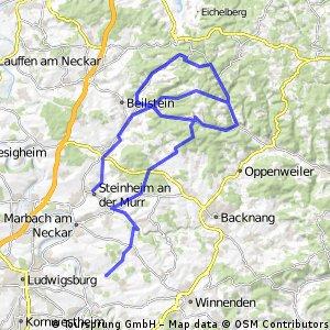 Höhenmeter in den Löwensteiner Bergen