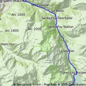 Cycling the Alps Tignes