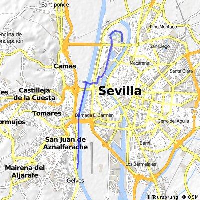 Alamillo- Cartuja -Guadalquivir- Puerto Gelves