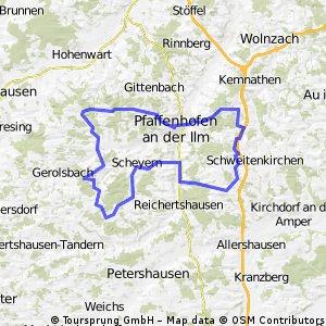 Schwierige Route, Rund um Pfaffehofen CLONED FROM ROUTE 145595