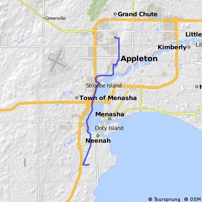 bike tour from Appleton to Neenah