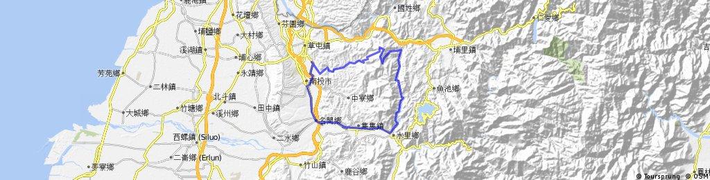 Jhongsing -> Jiufen Ershan -> Shueili -> Mingjian -> Jhongsing Village