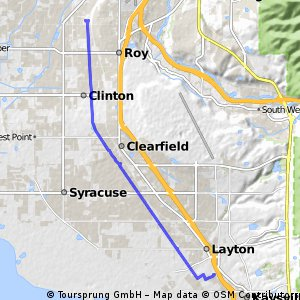 Ride from Roy to Kaysville