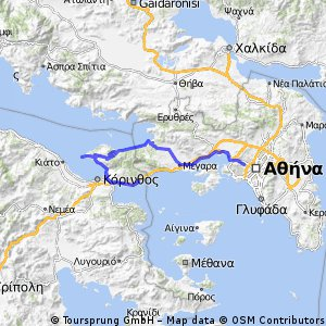 Athens - Megara - Alepohori - Shinos - Iraion - Loutraki - Agioi Theodoroi
