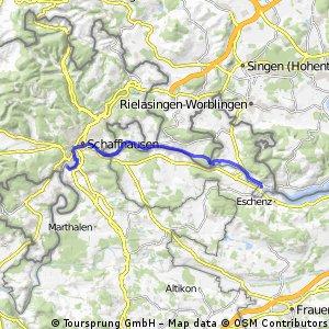 Rheinradweg Schloss Laufen - Stein am Rhein