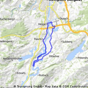 An der Iller - flache Rundtour bei Sulzberg im Allgäu