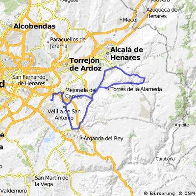 """Ruta Carretera 39: 74 Km 563 m - """"Los Toboganes de Loeches y Corpa"""""""