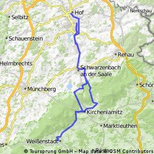 ADFC-Hof: Sonderfahrt nach Weißenstadt