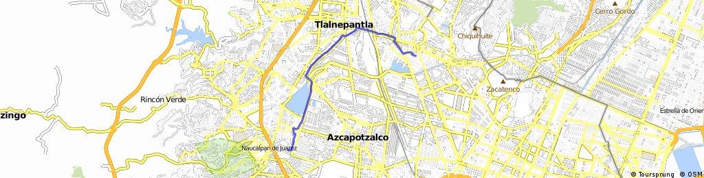 Tlalnepantla Mexico Map.Ride From Ciudad De Mexico To Naucalpan De Juarez Bikemap Your