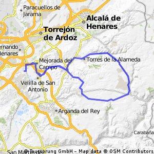 """Ruta Carretera 03: 73 Km 556 m - """"Campo Real y descenso de Los Pinos de Nuevo Baztán"""""""