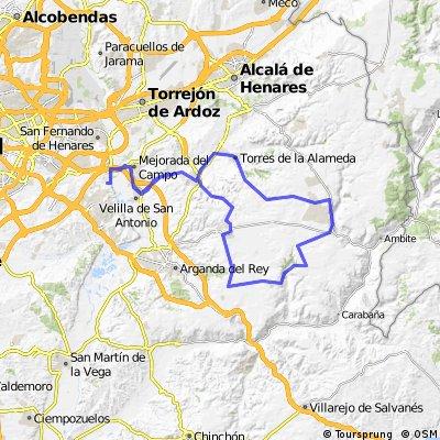 "Ruta Carretera 10: 84 Km 721 m - ""Campo Real, Los Pinos de Valdilecha y descenso del Torresduro"""