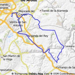 """Ruta Carretera 11: 97 Km 836 m - """"Los Calerines, Tielmes y Carabaña"""""""