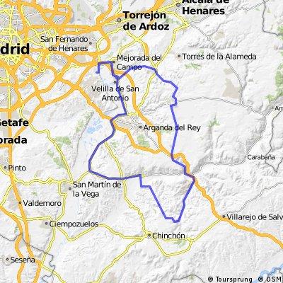 "Ruta Carretera 12: 96 Km 806 m - ""Cuesta Nueva, Valdelaguna y Perales"""