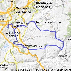 """Ruta Carretera 13: 92 Km 829 m - """"El Butano, Los Pinos de Valdilecha y Variante de Villar del Olmo"""""""
