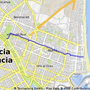 """Quick Trip From """"El Rio"""" To """"Malvarrosa"""""""