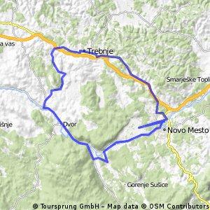 Lengthy ride through Dolenjske Toplice
