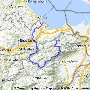 Lange Ausfahrt von Heiden nach Steinach