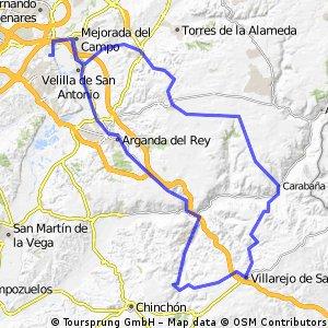"""Ruta Carretera 20: 101 Km 940 m - """"Los Calerines, Valdelaguna, Villarejo y Carabaña"""""""