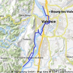 20 avril  Traverseée de Valence