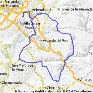 """Ruta Carretera 30: 100 Km 828 m - """"Cuesta Nueva, Valdelaguna y Los Botes"""""""