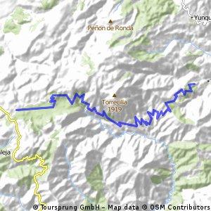 Sierra de Las Nieves - from west to east