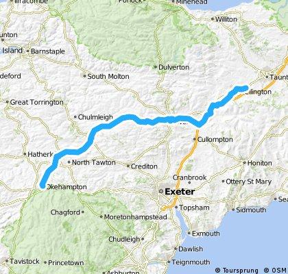 LEJOG Day 3 - Okehampton - Wellington