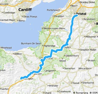 LEJOG Day 4 - Wellington to Bristol