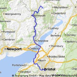 LEJOG Day 5 - Bristol to Welsh Bicknor