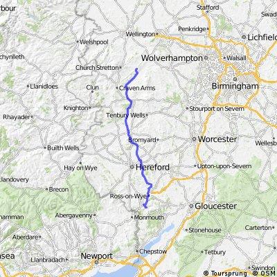 LEJOG Day 6 - Welsh Bicknor to Longville in the Dale