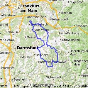 Odenwald - grosse Runde knapp 105km