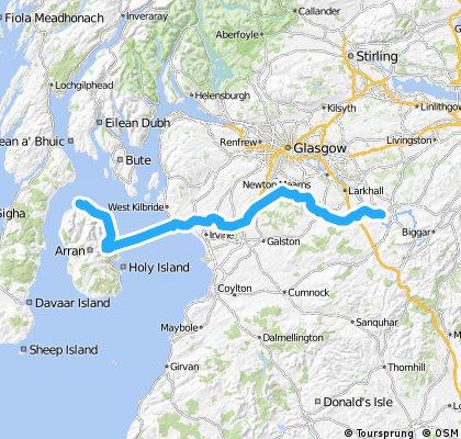 LEJOG Day 11 - Lanark to Lochranza